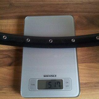 "Gewicht Alex Rims Felge ESD 23 26"" / 559x23 / 32 Loch"