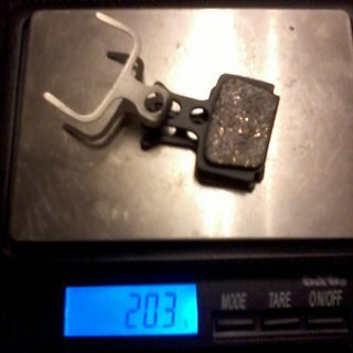 Gewicht Trickstuff Bremsbelag 630 NG R1, RX, The One, Mega