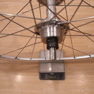 """Gewicht Campagnolo Systemlaufräder Record Pista - KinLin XR-200 - Sapim Laser 28"""", HR, 120mm"""