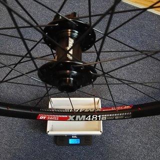 """Gewicht Hope Systemlaufräder Pro 4 / DT XM481 / Sapim CX-Ray VR 29"""" / 15x100mm"""