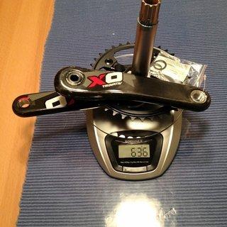 Gewicht SRAM Kurbelgarnitur X0 DH 175mm, 36Z