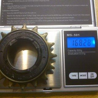 Gewicht ACS Weiteres/Unsortiertes Southpaw Fat Freilaufritzel 16Z