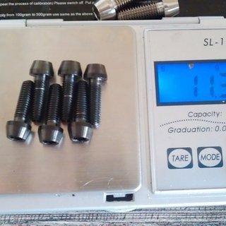 Gewicht Tuning Pedals Schrauben, Muttern konische Inbusschraube M5x16, Ti