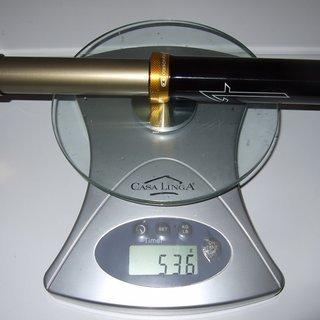 Gewicht Crank Brothers Sattelstütze höhenverstellbar Joplin 4L 31.6 x 398mm