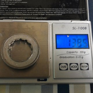 Gewicht Shimano Kassettenabschlussring Ultegra CS-6500 12Z