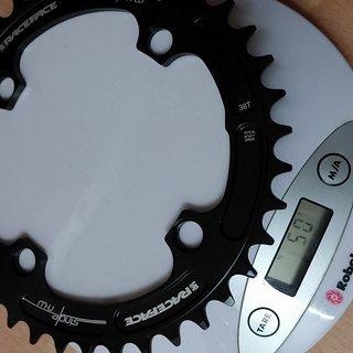 Gewicht Race Face Kettenblatt Single Ring n/w 104mm, 38Z