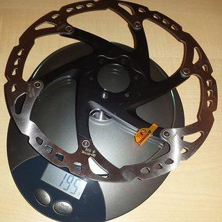 Gewicht Shimano Bremsscheibe SM-RT76L 203