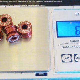 Gewicht KCNC Kettenblattschrauben Kettenblattschrauben M8x6,5mm, 4x