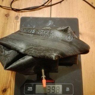 Gewicht Maxxis Schlauch FAT / PLUS 29+ x 2.50/3.00