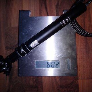 Gewicht Rock Shox Sattelstütze höhenverstellbar Reverb Stealth 31.6 x 430mm