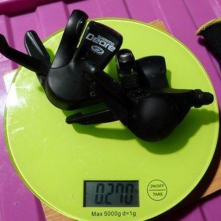 Gewicht Shimano Schalthebel Deore SL-M510 3 x 9