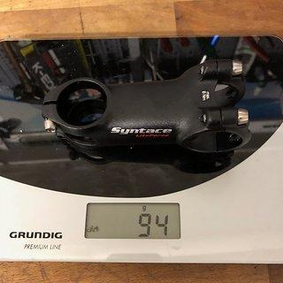 Gewicht Syntace Vorbau LiteForce 75 75 mm