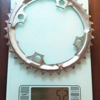 Gewicht Shimano Kettenblatt LX FC-M581 104mm, 36Z
