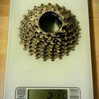 Gewicht Shimano Kassette Tiagra CS-HG50 9-fach, 11-25Z