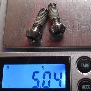 Gewicht Avid Schrauben, Muttern Linsenkopfschraube M6x18, Ti