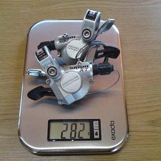 Gewicht SRAM Schalthebel X7 Trigger 3x9-fach