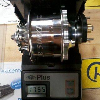 Gewicht Rohloff Nabenschaltungen Speedhub 500/14 135mm, 32 Loch