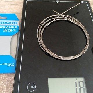 Gewicht Shimano Innen- und Außenzüge Shift Inner Cable Ø1,2mm x 2100mm