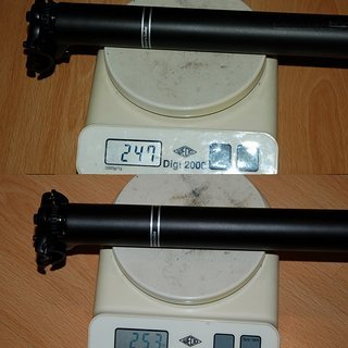Gewicht Cannondale Sattelstütze C3 31.6 x 350mm