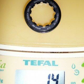 Gewicht Shimano Kassettenabschlussring SLX CS-HG81-10 11Z