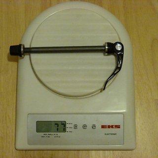 Gewicht Novatec Schnellspanner QR215F 9mm x 100mm Thru Axle