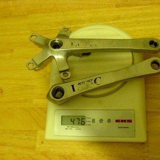 Gewicht Ritchey Kurbel Logic 175mm, 68/73mm, 4-kant