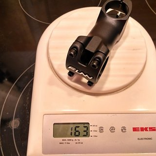 Gewicht FUNN Vorbau XC 31.8mm, 80mm, 7°