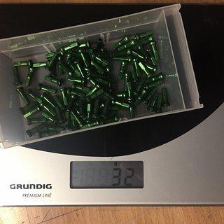 Gewicht Sapim Speichennippel Polyax Alu Grün 14/2mm