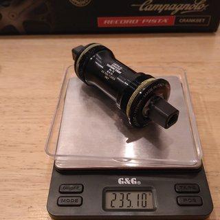 Gewicht Campagnolo Weiteres/Unsortiertes Centaur 4-kant ISO, 68/111mm, BSA