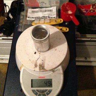 Gewicht FSA Innenlager BB30 auf BSA Adapter 73mm