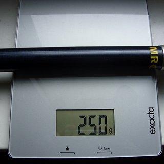 Gewicht MacMahone Sattelstütze MRC Seatpost 27.2 x 340mm