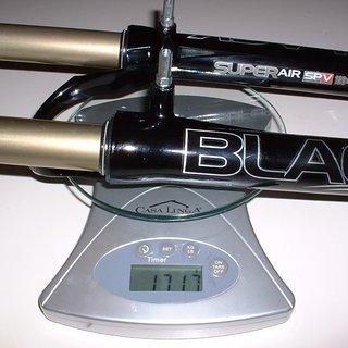 "Gewicht Manitou Federgabel Black Super Air SPV 26"", 100mm, 1-1/8"""