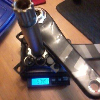 Gewicht SRAM Kurbel X01 DH 165mm, GXP