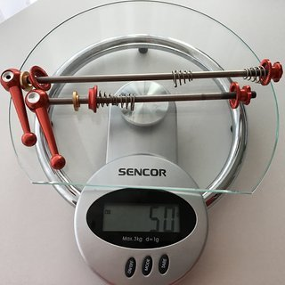 Gewicht Motsuv Schnellspanner Titanium 100mm,135mm