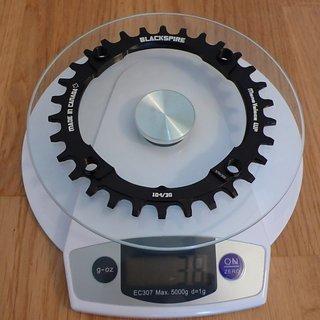 Gewicht Blackspire Kettenblatt Mono Veloce WP 104mm, 30Z