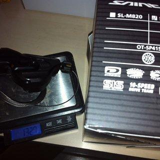 Gewicht Shimano Schalthebel Saint SL-M820-I 10-fach
