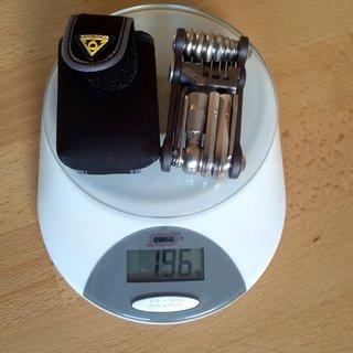 Gewicht Topeak Werkzeug Mini 18+