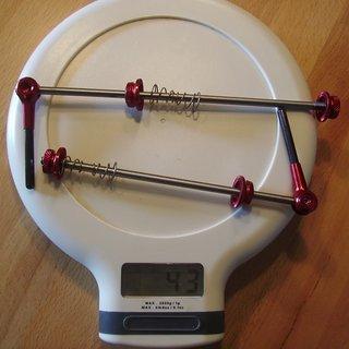 Gewicht Bikehardest Schnellspanner Titan SL Carbon 100mm, 135mm
