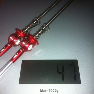 Gewicht Aerozine Schnellspanner XQ1.0 100mm, 135mm