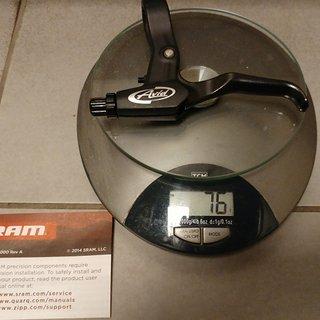 Gewicht SRAM Brems-/Schalthebel-Kombi Avid FR-5 schwarz