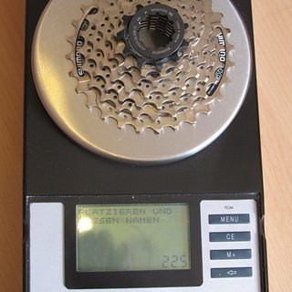 Gewicht Shimano Kassette Acera CS-HG41-7 7-fach, 11-28Z