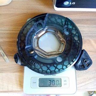 Gewicht e-thirteen Kettenführung SS+ mit Shimano Saint Bashguard 36-38 Zähne