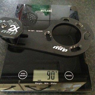 Gewicht MRP Kettenführung 2x  ISCG 05