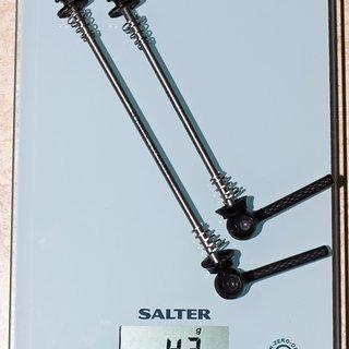 Gewicht Force Flow Schnellspanner Ti-Al-Carbon 100mm, 135mm