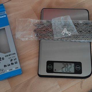 Gewicht Shimano Kette SLX CN-M7100 126 Glieder, 12-fach