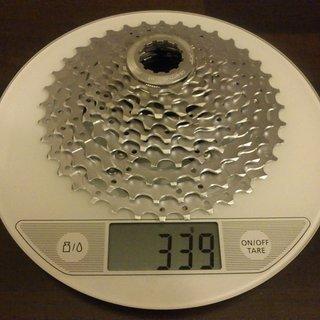 Gewicht Shimano Kassette XT CS-M771 10-fach, 11-36Z