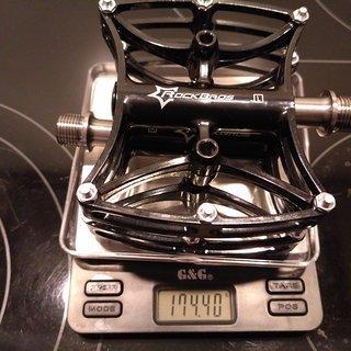 Gewicht Aest Pedale (Platform) YMPD-11T 110x95x17mm