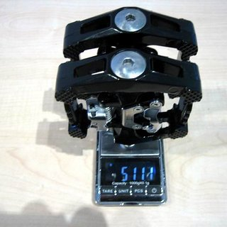 Gewicht Wellgo Pedale (Platform) D10 Magnesium 90x90mm