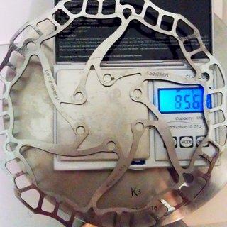 Gewicht Ashima Bremsscheibe Airotor 160mm