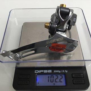 Gewicht Shimano Umwerfer FD-CX70 (tuned) 34,9